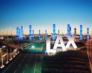 Light Pylons at LAX.
